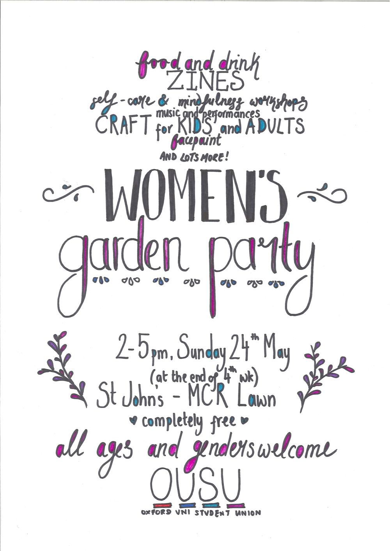 Women's Garden Party Poster